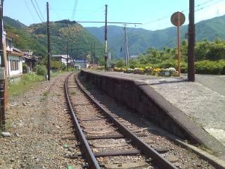 大井川に到着