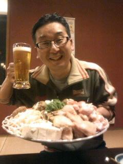 某高級旅館にて。落語無事に終わって打ち上げです☆いつもいいお酒の桂三弥兄さんです。