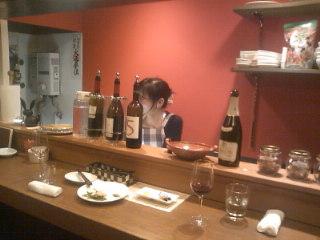 京都先斗町13番路地「ラ・カラ」にて。お知り合いと飲んでます。Meetsにも載ったいいお店ですよぉ☆