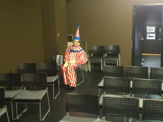 道頓堀ZAZAで生喬師匠の会。ありがとうございました!客席で見守るくいだおれ人形☆ネタは「始末の極意」を