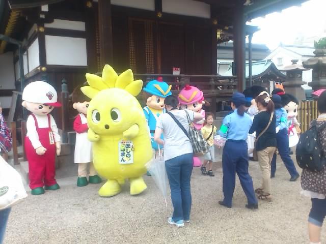うわあ!大阪天満宮にゆるキャラがいっぱい!・・そんな中に・・