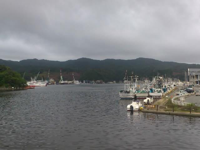 仙台から気仙沼港へ到着。無事にフェリーに乗れました。これから気仙沼大島へ。
