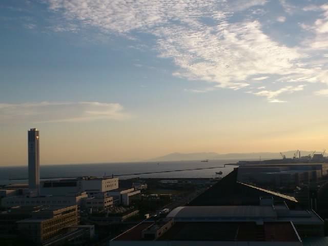 ポートピアホテルの最上階より。今日は天気もよく見晴らしがばっちりです☆